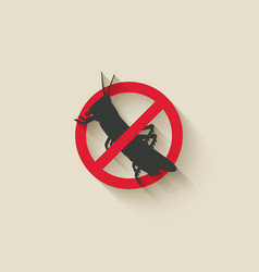 Locust insect pest icon vector