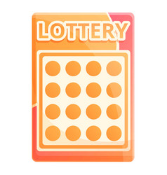 Lottery luck icon cartoon style vector