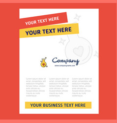 Love drink title page design for company profile vector