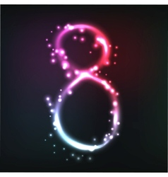 luminous numbers vector image