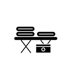 massage table black icon sign on isolated vector image