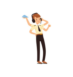 Multitasking air traffic controller character vector
