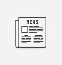 Newspaper outline icon vector
