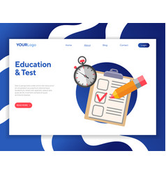 Online test and education vector