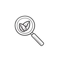 organic search hand drawn outline doodle icon vector image