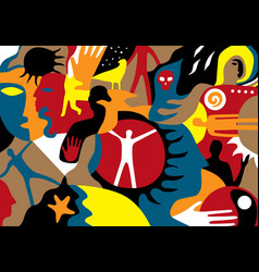 People psychology esoterica abstract vector