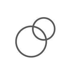 pie chart intersecting circles venn diagram line vector image