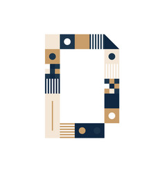 pixel art letter d colorful letter consist of vector image