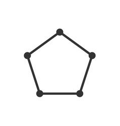 polygon pentagon shape icon vector image