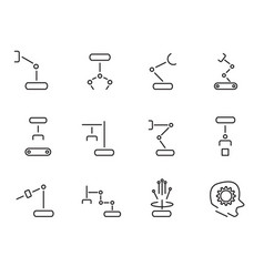 robot arm icon set sign and symbol concept vector image