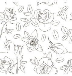 Rose set pattern vector
