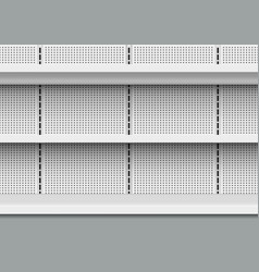 Seamless pattern of empty store shelves in market vector