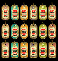 set different sale tags in color vector image