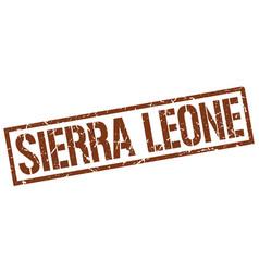 sierra leone brown square stamp vector image
