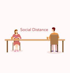 Social distance vector