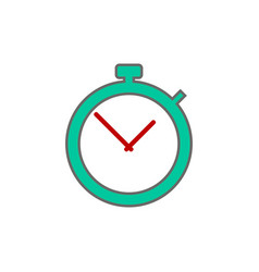 stopwatch icon sign vector image