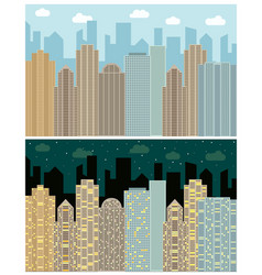 street view with cityscape vector image