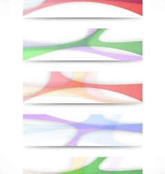 Transparent colorful web headers collection vector
