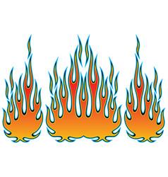 Tribal hotrod muscle car flame kit vector