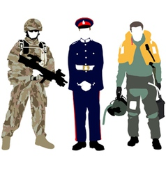 UK Military vector image vector image