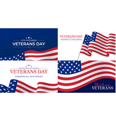 veterans day happy veterans day celebration vector image