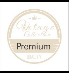Vintage circle premium image vector