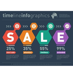 web templates with diagram and icons Sale vector image