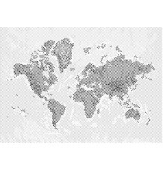 world map with halftone effect vector image