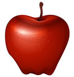 A red crunchy apple vector
