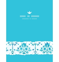 Abstract Flower Damask Vertical Torn Seamless vector image vector image