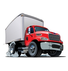 Cartoon delivery cargo truck vector image vector image