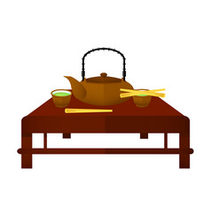Ceremonial chinese tea elements concept vector