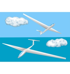gliders and clouds vector image vector image