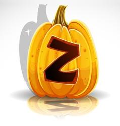 Halloween Pumpkin Z vector image vector image