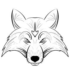 Hand drawn fox headInk sketch Fox vector image vector image