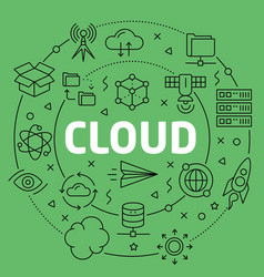 linear cloud vector image vector image