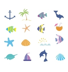 Maritime icons set vector image