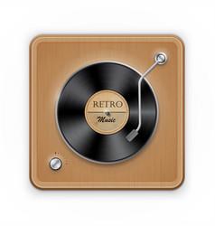 retro vinil record player vector image