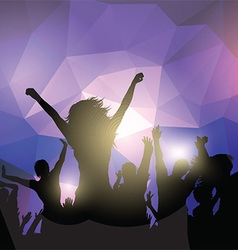 Silhouette of a party crowd vector image vector image