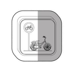 Bike isolated symbol vector image