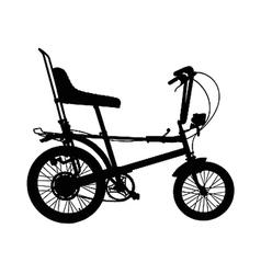 chopper silhouette vector image
