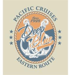 Deep blue pacific cruises vector