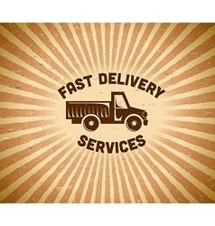 Delivery vintage label vector image