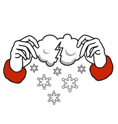 where do snow come from vector image vector image