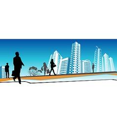 Business people walking vector image vector image