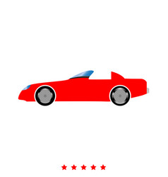 car icon flat style vector image vector image