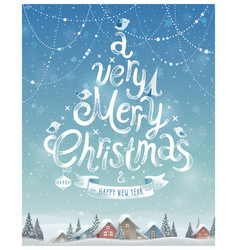 christmas poster vector image vector image