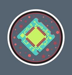 Computer Processor Chip vector image vector image