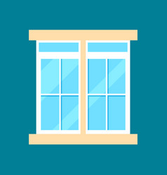 modern plastic window in flat design vector image vector image