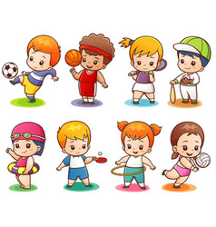 sport character vector image
